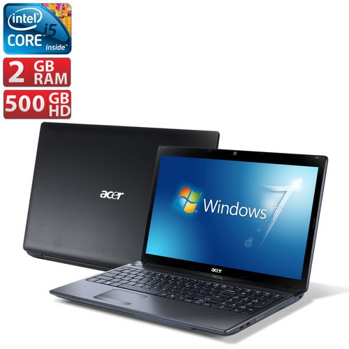 Notebook Acer Aspire Core i5 500GB LED 15.6 AS57506BR82