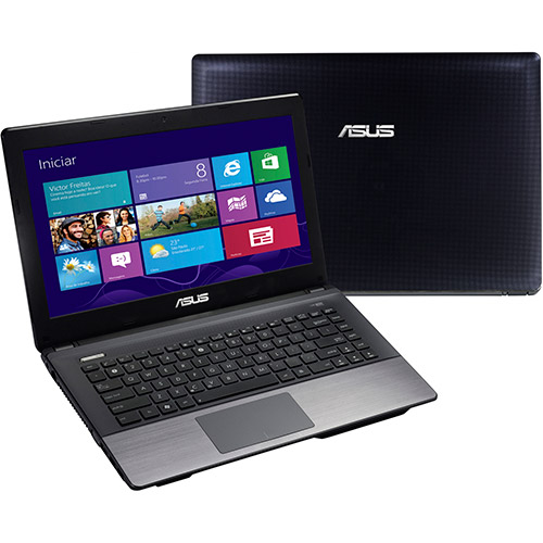 Notebook Asus Intel Core i7 8GB RAM 500GB HD LED 14 e Windows 8