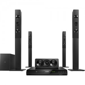 Home Theater DVD Philips HTD5580X/78 1000W, 5.1 Canais