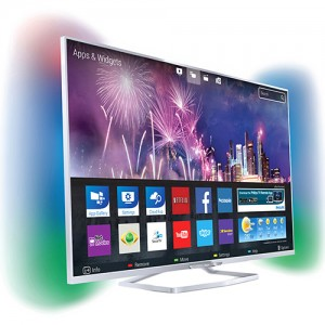 "Smart TV Philips 3D LED 47"" 47PFG6809/78 Full HD 3 HDMI 2 USB Wi Fi Integrado Ambilight + 6 óculos Frequência (480Hz)"